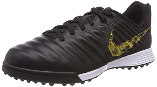 Nike Unisex-Kinder Kids Jr. Legendx 7 Academy (tf) Fußballschuhe, Schwarz (Black/MTLC Vivid Gold 077), 38 EU