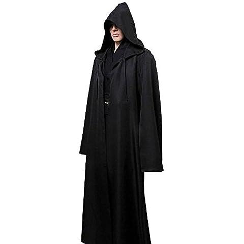 ROPALIA Halloween Kapuzenumhang Cape Robe für Erwachsene
