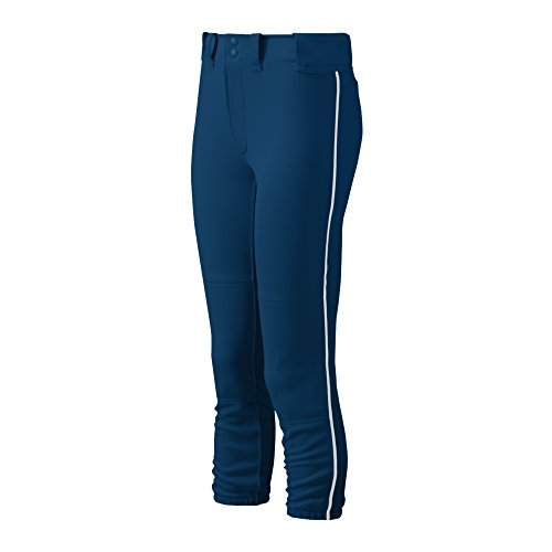 Mizuno Damen Gürtel Select Paspel Hose, Damen, 350314.5100.05.M, Marineblau/weiß, M -