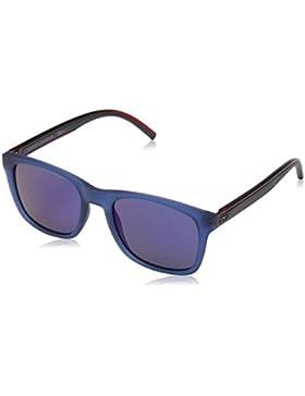 Tommy Hilfiger Unisex-Erwachsene Sonnenbrille TH 1493/S XT, Schwarz (Blue), 53