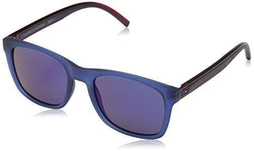Tommy hilfiger th 1493/s xt pjp, occhiali da sole uomo, blu (bluee/blue sky sp), 53