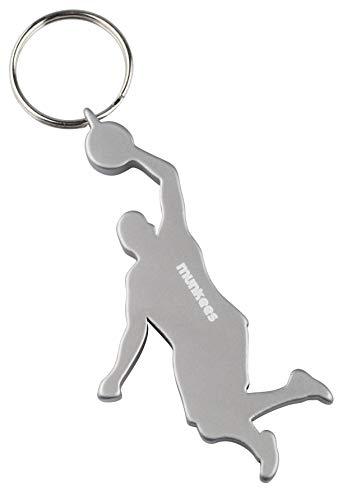 munkees Schlüsselanhänger Flaschenöffner I Basketball Fanartikel I Geschenk Artikel, Silber, 34911