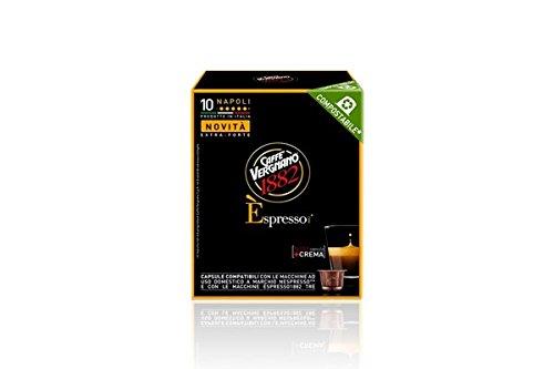 10 Capsule Caffe Vergnano Espresso Napoli Compostabile Compatibili Nespresso