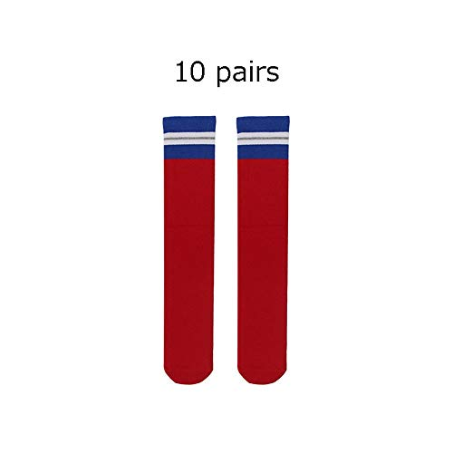 Fußballstutzen Kinder Baseball Socken Jugend Fußball Socken Jungen Mädchen Sport Striped Cushion Tube Socken Für Jungen Mädchen 100% Atmungsaktiv viele Farben (Farbe : C7, Größe : - Jugend Baseball Kostüm