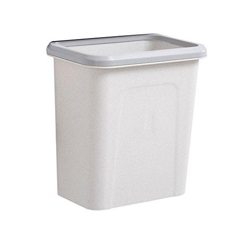 HBWJSH Haushalts-an der Wand befestigte Abfalleimer können verdickte Plastikküchenschränke aufgehängt Werden große Lagerplätze Mehrfarben 27X17X28CM (Farbe : Light Grey)