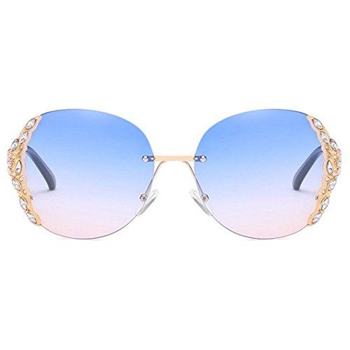Inlefen Damen Sonnenbrille Trendy Fashion Sonnenbrille Rahmenlose Sonnenbrille Diamond Framed Sunglasses