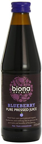 Biona 58916 Organic Blueberry Pure Super Juice 330 ml (Pack of 2)