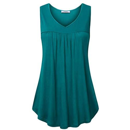 Alaso Mode Damen T Shirt Blusen Frauen Lose O-Ausschnitt Lässige Mode Unregelmäßiges Oberteile...