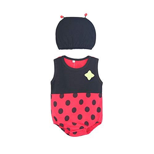 Ndier Baby-Sommer-Overall Kinder Strampler Boy Newborn Bodysuits Jumpers Playsuit Kostüme für Babys 73cm Lady Bug 2
