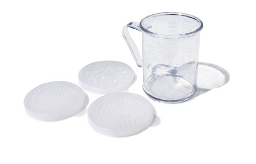 Neuf Star Foodservice 22513 Polycarbonate Dredge Shaker avec 3 couvercles, 283,5 gram, clair