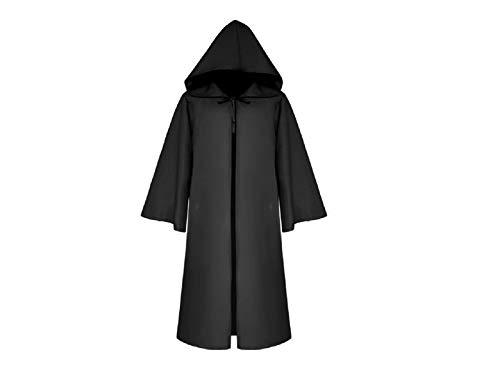 Yyanliii divertente costumi natalizi di halloween mantello da mantello lungo mantello con cappuccio per i bambini (nero) (colore : black, dimensione : length125cm)