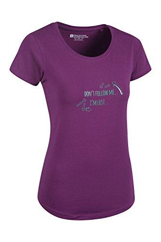 Mountain Warehouse Don't Follow Me I'm Lost Damen-T-Shirt Violett