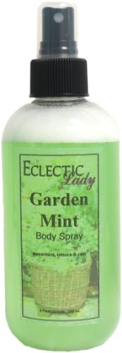 Garden Mint Body Spray, 8 ounces by Eclectic Lady (Mint Body Spray)