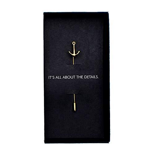 MAKERSONS Gold Anker Anstecknadel für Herren Anzug Brosche Neuheit Accessoire