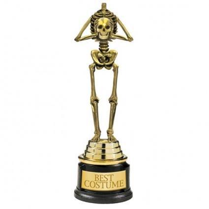 Halloween Bestes Kostüm Skelett Pokal