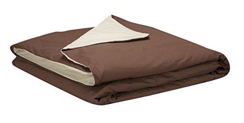 Pikolin Home - Funda nórdica, 100% algodón, 240x260cm-Cama 150/160, color marrón claro...