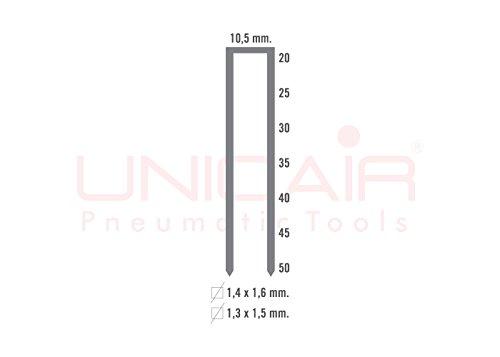 Agrafeuse pneumatique Unicair Nova 14B/50. Agrafes type 14B jusqu'à 50mm de long