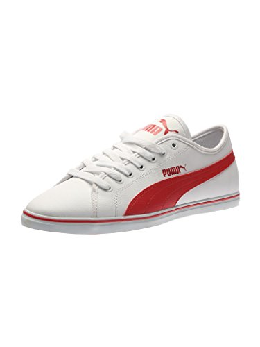 5. Puma Men's Elsu v2 SL DP H2T Puma White and Barbados Cherry Sneakers