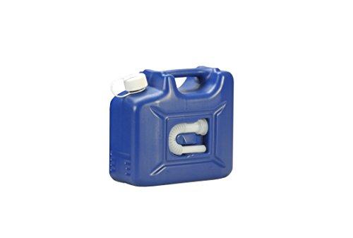 hünersdorff AdBlue Kanister 10 l, ideal zur Betankung an AdBlue-PKW-Zapfsäulen, Mehrwegkanister mit Auslaufrohr, passt in AdBlue Tankstutzen, unbefüllt