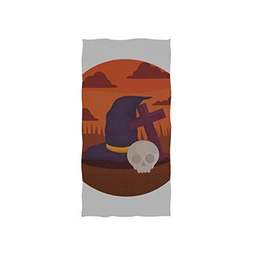 Hexe Hut Design Halloween Soft Spa Strand Badetuch Fingerspitze Handtuch Waschlappen Für Baby Erwachsene Badezimmer Strand Dusche Wrap Hotel Reise Gym Sport 30x15 Zoll (Billig Hexe Hüte)