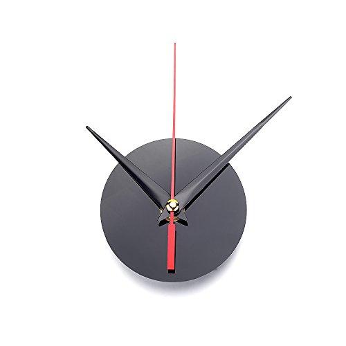 ATOPLEE Clock Spindelbewegungsmechanismus Reparatur Teil Kit Schwarz DIY Werkzeug-Handarbeit, 3 Stil, 3pcs (Acryl, 8621mm) (Handarbeiten-tool)