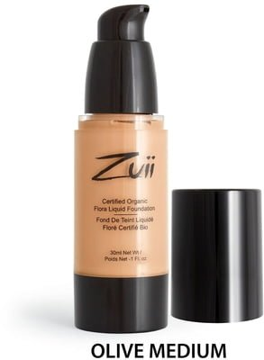 Zuii Certified Organic Flora Liquid Foundation Olive Medium