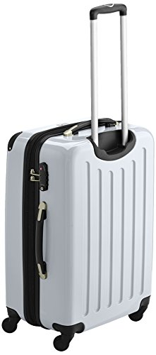 HAUPTSTADTKOFFER - Alex - 2er Koffer-Set Hartschale glänzend, TSA, 65 cm, 74 Liter, Aubergine-Silber Gelb-Weiß