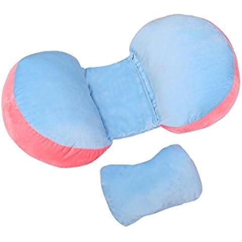 LUN Gravidanza regolabile cuscino di sostegno, regolazione 360 ° COCCOLA ME lato posteriore dormire per maternità pancia girovita cuscino a Cuneo con 100% cotone con cerniera sfoderabile, verde , blue velvet powder double