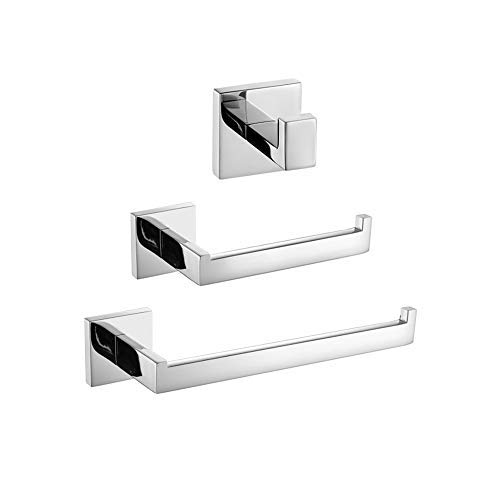 Turs 3-piece set di accessori da bagno sus 304 in acciaio inox inossidabile carta igienica portasciugamani porta asciugamani bar/porta accappatoio gancio a parete, finitura lucida, k7010p