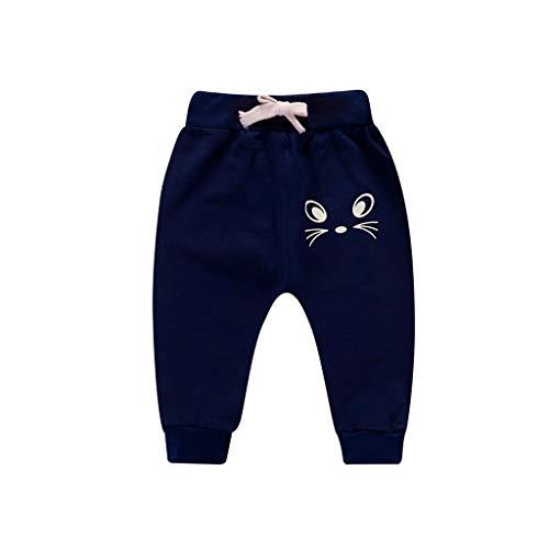 i-uend Neue 2019 Baby Hosen - Kinder Kinder Jungen Cartoon Vogel Zunge Harem Hosen Hosen Hosen für 1-5 Jahre (12-18 Months, Marine)