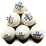 Konex 40mm White Table Tennis Balls (Pack Of #6 Balls)