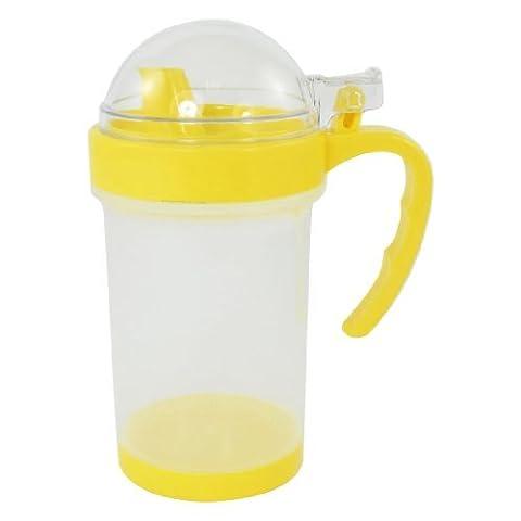 Plastic Öl Pot Kettle Sojasoße 380ml Kapazität Gelb Klar
