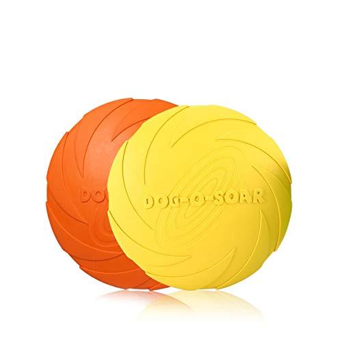 PETCUTE Frisbee Volar Discos Juguete Flyer Dog Toy Disco de Perro Suave y Duradero 2 Piezas ø 15 cm
