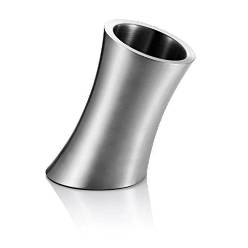 Loooqs P915.052 Design Weinkühler, Edelstahl, silber, 25,5 x 16,2 x 23 cm