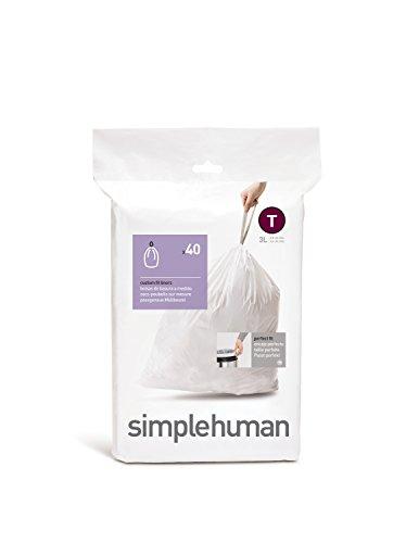 Simplehuman Set 40 Bolsas Basura T 3 L
