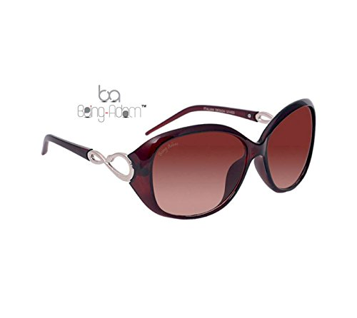Being Adam Oval Women'S Sunglasses(19Brown Oval Ladiess|51|Brown)
