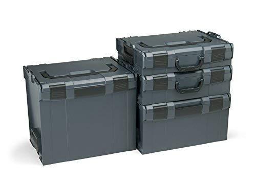 Bosch Sortimo L-Boxx Werkzeugkoffer Set   Größe 102-374 in Anthrazit   Bosch Werkzeugkoffer Leer   Kompatibel mit L-Boxx