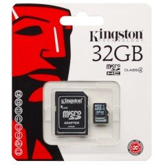 32GB Kingston microSD HC Speicherkarte + SD Adapter (Klasse 4) -