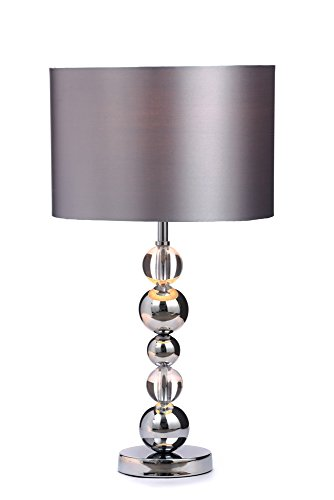 illuminate timothy modern chrome silver stack ball with matching shade