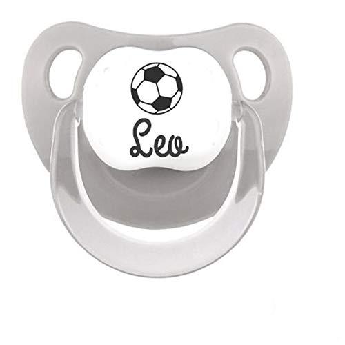 Chupete personalizado nombre dibujo futbol tetina