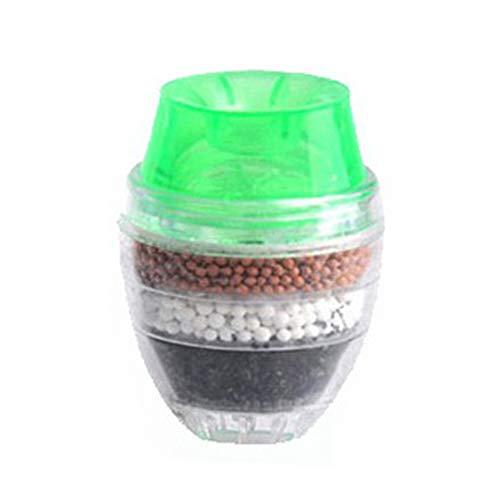 KLOOM [6 Pack Mini Wasserhahn wasserfilter Hause Kokosnuss Carbon patrone Wasserhahn leitungswasser sauberen luftreiniger Filter, grün (Filter Luftreiniger Grüne)