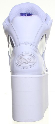 Buffalo , Baskets mode pour femme Blanc - Blanc JL25