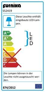 ROLLER Wohnwand KARDIGAN – Sandeiche-weiß – LED Beleuchtung – 270 cm - 4
