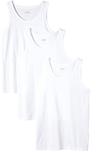 BOSS Herren Tank Top 3P BM 10111875 02 T-Shirt, Weiß (White 100), XX-Large (Herstellergröße: XXL) (erPack 3 -