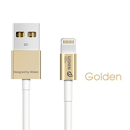 wsken MFI Apple Zertifiziert 1 Meter Metall 8 Pin Lightning auf USB Kabel Daten Sync Ladegerät Cord Draht für iPhone 5, 5S, 5 C, 6, 6Plus, iPad Air, iPad Mini, iPod Touch, unterstützt IOS