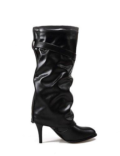 CU@EY Da donna-Stivaletti-Casual / Formale-Stivali / Comoda-A stiletto-PU (Poliuretano)-Nero black-us4-4.5 / eu34 / uk2-2.5 / cn33