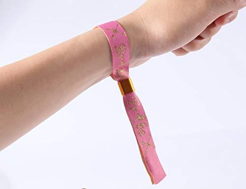 Flair 10 x Pulseras de la Tribu de la Novia Flamenca de Color Rosa y Oro y 1 x Pulsera de la Novia Pulsera Equipo Novia