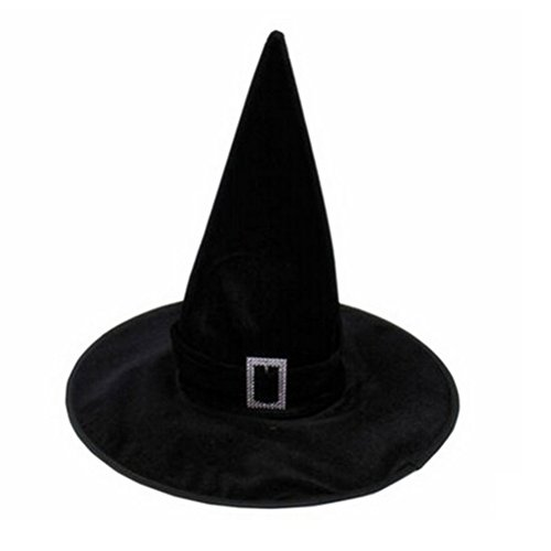 FENICAL Hallowen Hexenhut Velours Hexe Zauberin Hat Hallowen Fancy Dress Party Kostüm Zubehör (Dress Fancy Verwendet Kostüme)