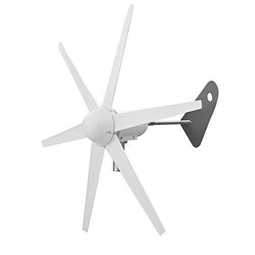 ECO-WORTHY 300Watt 6 Klingen Windkraftanlage 12V / 24V Windgenerator Windkraftgenerator Ideal zum Aufladen von 12V / 24V Batterien