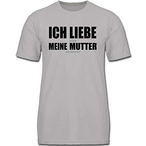Up to Date Kind - Ich Liebe Meine Mutter - 164 (14-15 Jahre) - Hellgrau - F130K - Jungen Kinder T-Shirt (Ich Liebe Meine Mami-shirt Für Jungen)